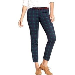 NWT Old Navy Christmas plaid pixie ankle pants